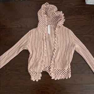 lilu crochet cropped summer sweater